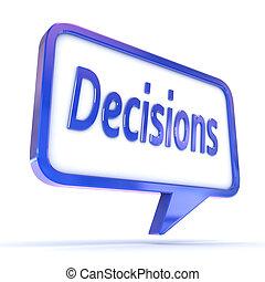 """parole, projection, bulle, """"decisions"""""""