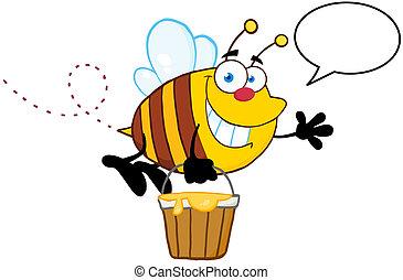 parole, voler, bulle, abeille