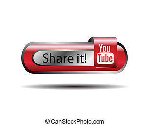 part, bouton, youtube, il, ligne