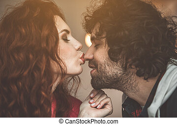 partage, amour, couple, leur, autre, chaque, heureux