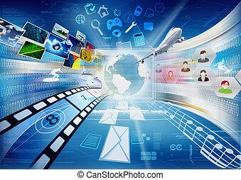 partage, multimédia, internet