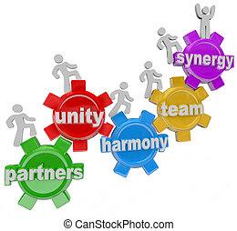 partenaires, fonctionnement, reussite, ensemble, synergie, collaboration