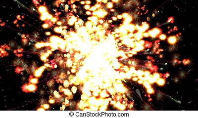 particule, feud'artifice, animation, numérique