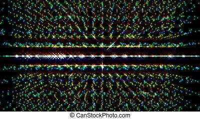 particule, lumière, animation, vidéo, technologie, futuriste
