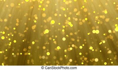 particule, lumière or, fond, barbouillage, noël