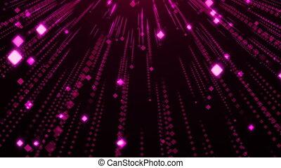 particules, charme, scintillement, pluie, violet