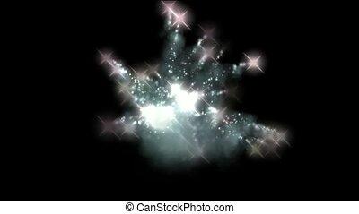 particules, feux artifice, explosion, &