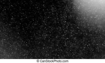particules, lumière, résumé, poussière