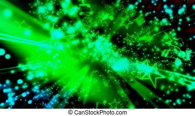 particules, musique, étoiles, vert, notes