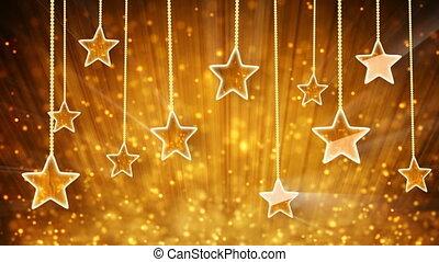 particules, or, étoiles, boucle