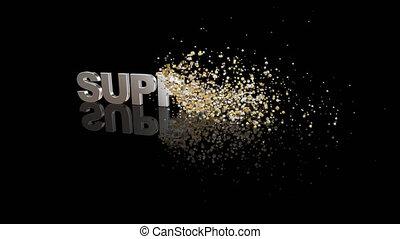 particules, texte, dissoudre, soutien