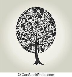 partie corps, arbre