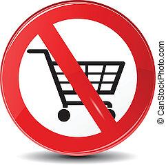 pas, achats, vecteur, permis, restriction