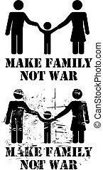 pas, faire, guerre, famille