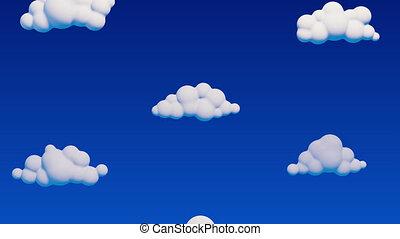 passé, fermé, ciel, prendre, nuages
