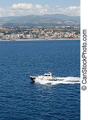 passé, pilote, italie, bateau, côte