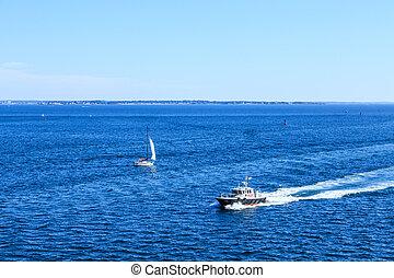 passé, voilier, bateau, pilote
