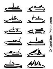 passager, bateaux, yachts