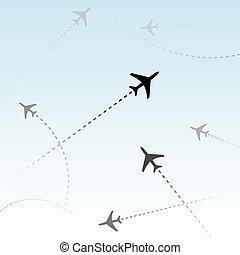 passager, commercial, avions, air, vols, trafic, ligne aérienne
