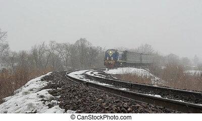 passager, train ferroviaire, t
