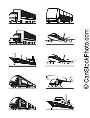 passager, transportations, cargaison