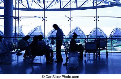 passagers, aéroport