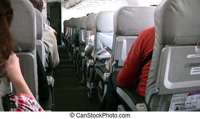 passagers, avion, secousse