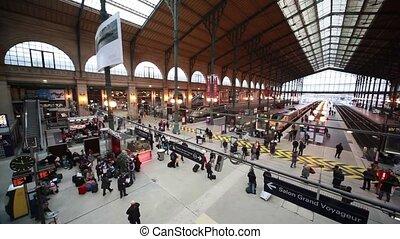 passagers, pavillon, paris, promenade, station, nord
