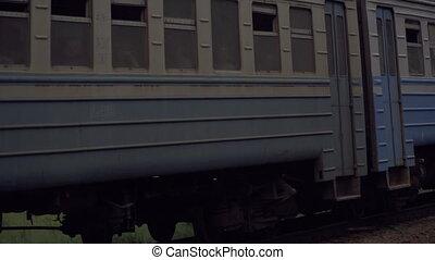 passes, train., train, vieux, rails
