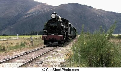 passes, train, vapeur
