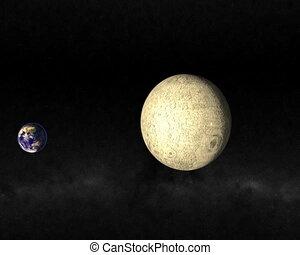 passing., lune, copain, cg.