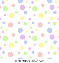 pastel, multi, polka, seamless, point