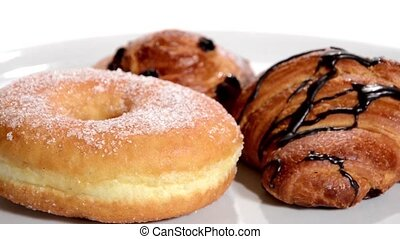pastry., croissants, isolé