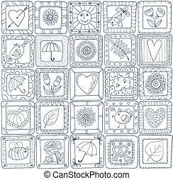 patchwork, géométrique, pattern., style, seamless