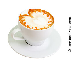 path)., cappuccino., (isolated