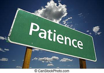 patience, panneaux signalisations