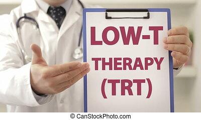 patient, docteur, conseil, thérapie, bas, t