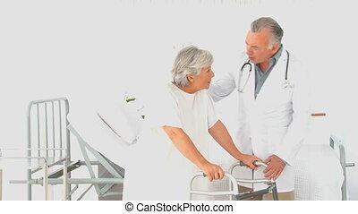 patient, docteur, sien, visiter