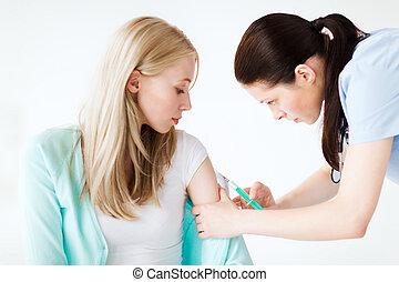 patient, vaccin, docteur