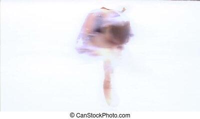 patinage, figure, élément