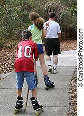 patinage, loin