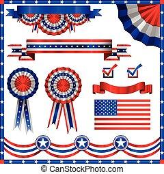 patriotique, américain, éléments