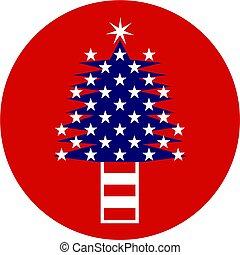 patriotique, arbre