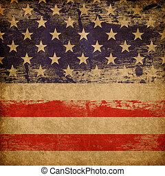 patriotique, arrière-plan., américain, grunge, thème