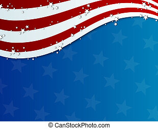 patriotique, quatrième juillet, fond