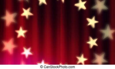 patriotique, rouges, boucle