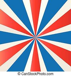 patriotique, starburst, papier peint, vecteur