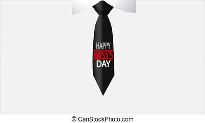 patron, jour, cravate