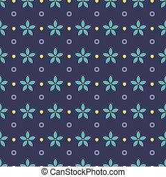 pattern., pourpre, points, bleu, seamless, arrière-plan., fleurs, ethnique, cercles, fleur