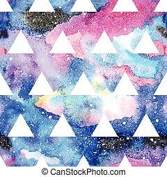 pattern., seamless, galaxie